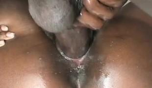 amatør vakker hardcore ass svart stor kuk ibenholt knulling doggystyle nærhet