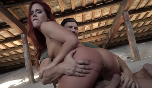 Nacho Vidal gets turned on to the point of no return by and then pounds her face hole