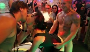 Slutty party girls and the stripper guys fucking