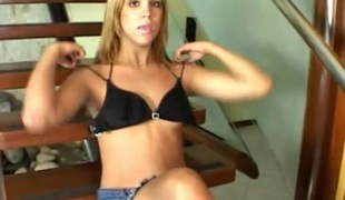 Bubbly tgirl receives DP in spicy 3some