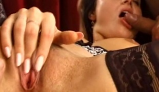 Nasty and enjoyable porn hottie treats cock a sexy and wicked orall-service