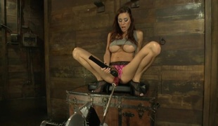 The Girl Next Door Squirts Power Hottie Gia DiMarco is back w Machines