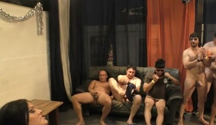busty ashley cum in real gangbang