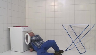 MMV FILMS German Mommy draining the plumber