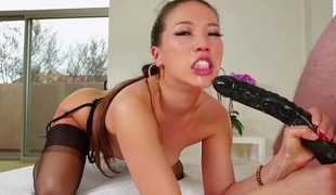 Kalina Ryu getting mouth screwed ferociously by Jonni Darkko