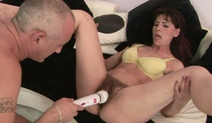 Redhead Gina Red acquires her face hole drilled silly by sex hungry guy
