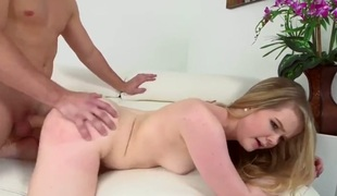 Blonde Lexxxus Adams is one oral slut who gives guys meaty meat stick a try