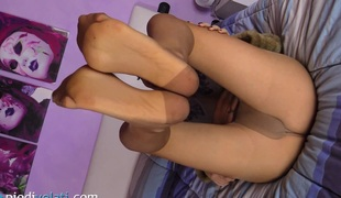 solo fetish strømpebukse nylon foot fetish