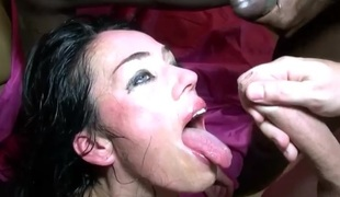 Super Hot Dilettante MILF Adeline Hard Team fuck