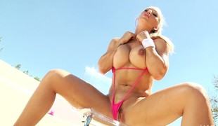 Blond enchantress in a bikini gets and gives head previous to they fuck