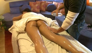 virkelighet hardcore massasje par olje fin rumpe