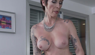 Lustful cougar Catalya Mia knows how to handle a large cock in her pussy