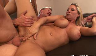 Breasty Blonde Housewife Devon Lee Pierced Pussy