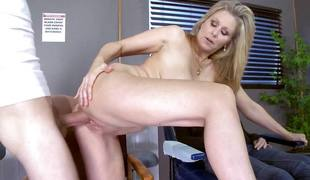 Blonde MILF Julia Ann rides an enormous shaft