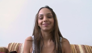 Ariel Teens lets guy stick his meaty meat stick in her mouth