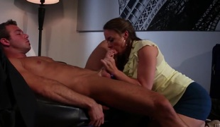 Chanel Preston and a fortunate guy enjoy oral sex they will never forget