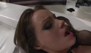 Sophie Lynx moves her mouth the right way to assist Mike Angelo reach orgasm before backdoor sex
