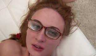 naturlige pupper rumpehull anal hardcore deepthroat pornostjerne blowjob facial fingring rødhårete