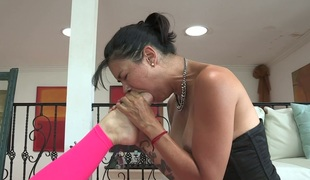 Lecherous bitch with sexy body Dana Vespoli  pleases her kinky GF