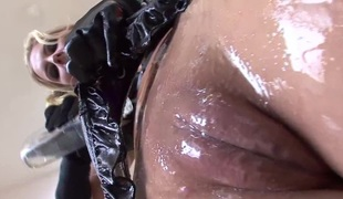 Oiled goddess Phoenix Marie needs that boner inside her butthole