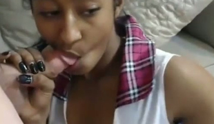 Highly attractive Indian coed is blowing my shlong in front of her webcam