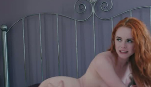 Dominant redhead Ella Hughes can't live without being watched during sex