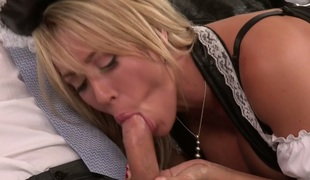 Super sexy maid in sexy uniform Capri Cavanni is fucked by her master