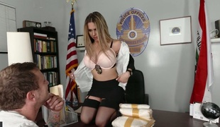 Delightful police chief with big bumpers Rachel Roxxx banged well