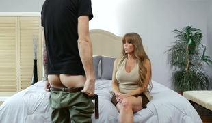Horny blonde mature Darla Crane properly fucked by a nerd