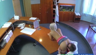FakeHospital Hawt sexy blonde acquires probed and squirts