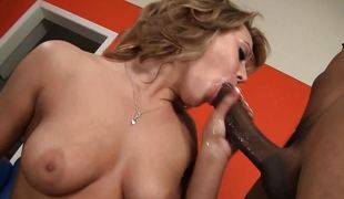 Ashley Enchanting fucks in sexy darksome stockings