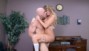 Alexis Adams is a slut of a student that does not listen to reason and does not behave. Johnny Sins, who is security, is tired of her behavior and teaches her a lesson.