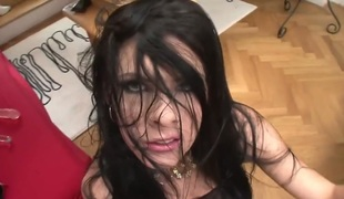 Rocco Siffredi buries his throbbing shlong in mouth-watering Lelloys face hole