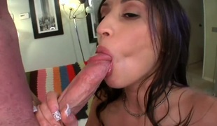 Dark brown chicana Alexis Breeze with bubbly booty wants dudes jock to screw her pussy hard in interracial hardcore act