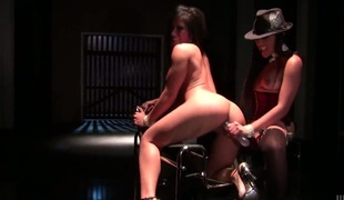 Christina Aguchi gets the hole between her legs licked by her lesbian girlfriend Kaylani Lei