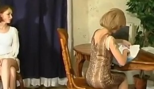 Esther and Irene lesbian mature clip