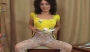 Fanny pantyhose tease movie