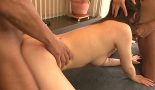 Nozomi Hatsuki fucked bad in three-some session intensively