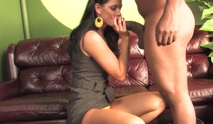 Son watching mama India Summer getting fucked by a BBC