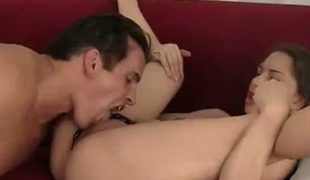 Dark haired spoiled sweetie Alexis Rodriguez receives her wet crack licked and fucked in a  proper manner