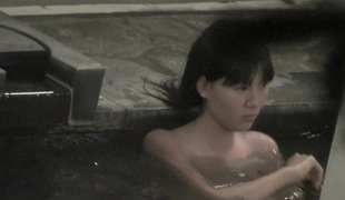 Asian tiny titties seen through the pool water on spy webcam nri049 00