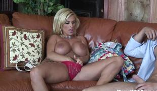 Horny Blond Mom Holly Halston Fucks A Young Stud