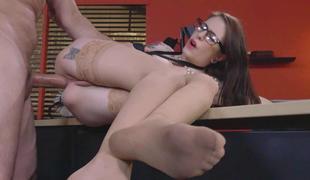 rumpehull anal strømper briller ass