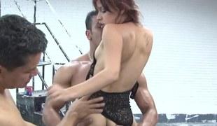 Vehement Latina slut gets rammed hard by her handsome lovers