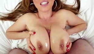 Kianna Dior is an Asian that is blessed with biggest tits. They are big and firm and are really good at massaging hard dicks. That babe does a tit fuck.