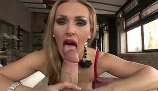 Rocco Siffredi uses his beefy meat stick to bring blowjob addict Tanya Tate with moist breasts to the height of pleasure