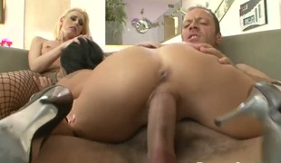 Darryl Hanah is not a whore but a porn star who loves to suck Rocco Siffredis ram rod before anal fun