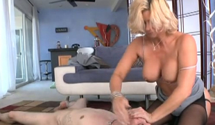 Sexy blond mommy Phyllisha Anne dominates a horny guy