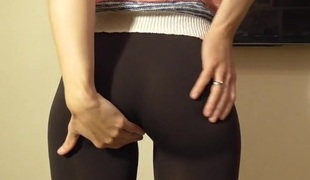 Skintight panties for public cameltoe play
