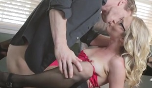 Flawless secretary Karla Kush fucked over a desk
